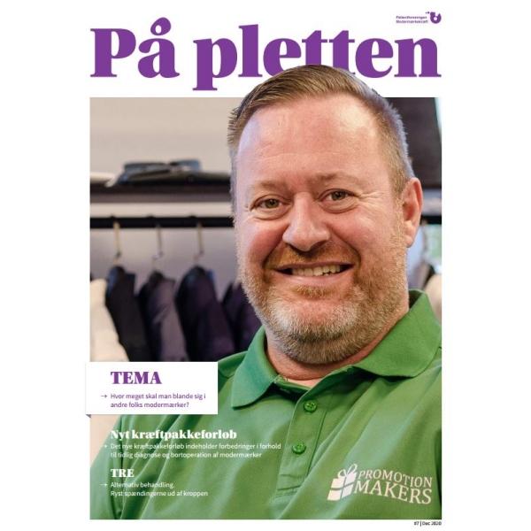 Interview i Patientforeningen Modermærkekræfts medlemsblad På Pletten